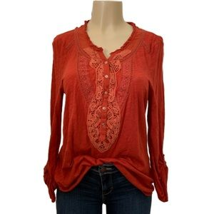 Anthro. Meadow Rue Embroidered Tunic Size Large